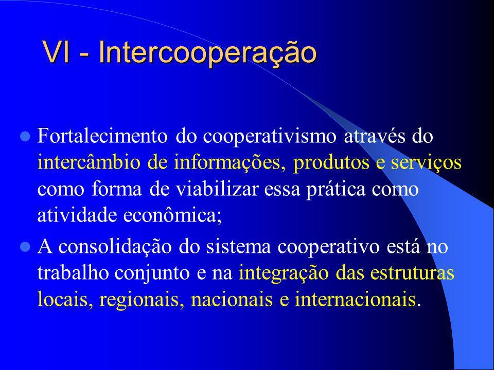 VI - Intercooperação