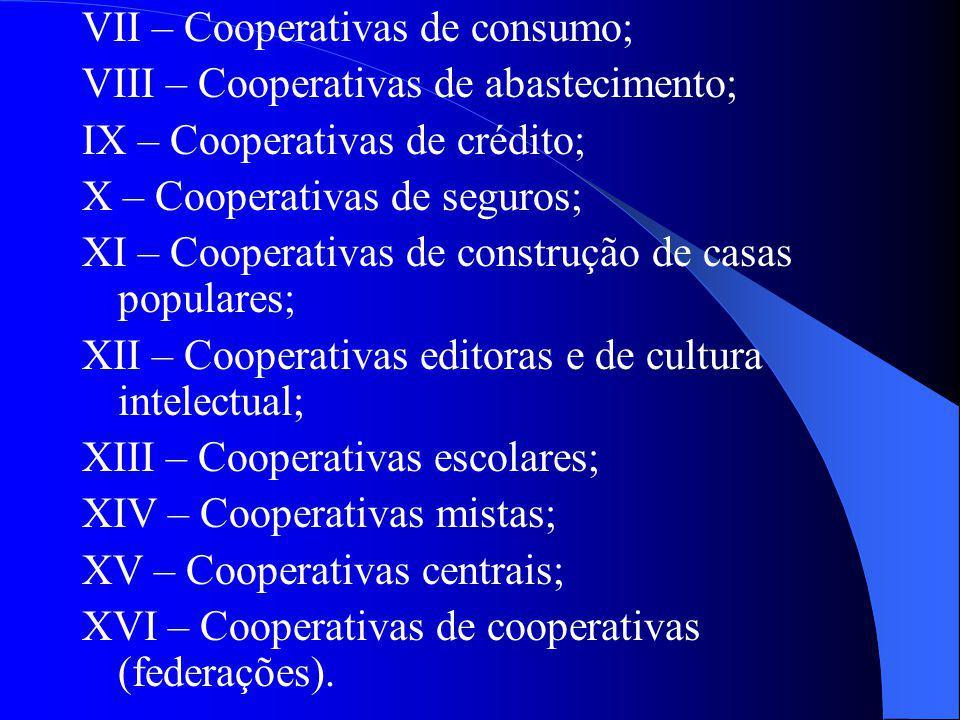 VII – Cooperativas de consumo;