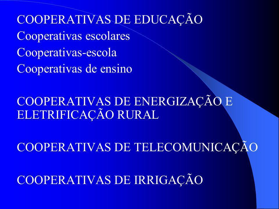 COOPERATIVAS DE EDUCAÇÃO