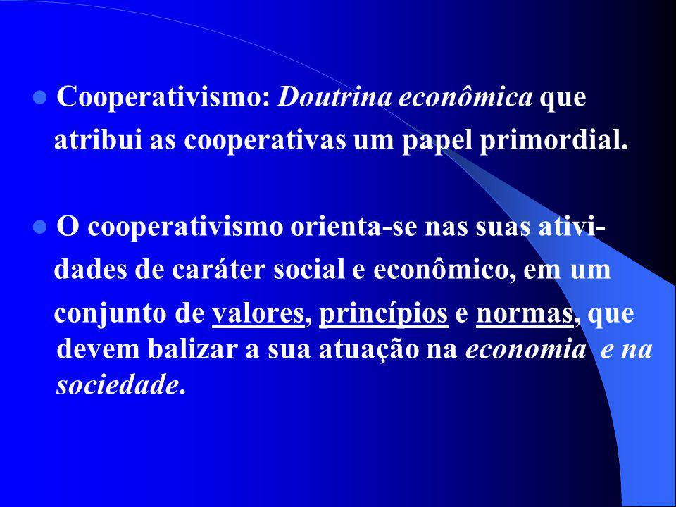 Cooperativismo: Doutrina econômica que
