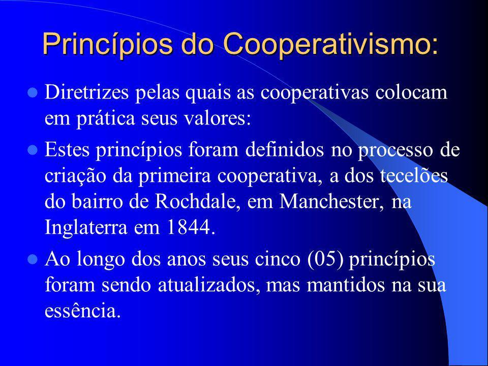Princípios do Cooperativismo: