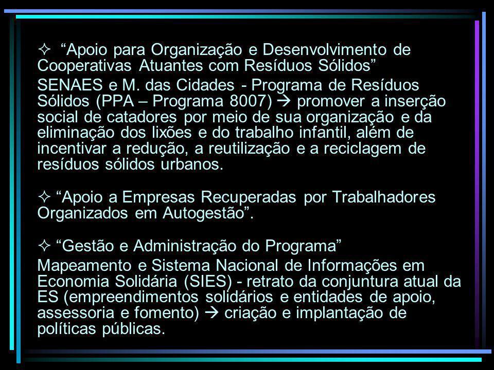  Gestão e Administração do Programa