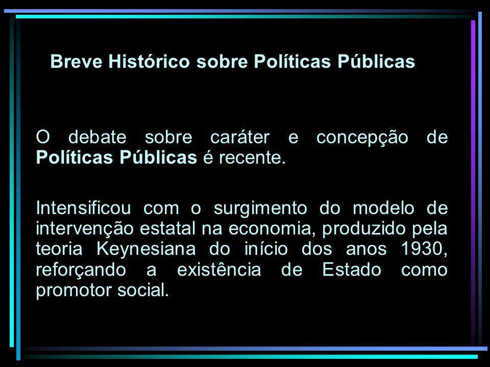 Breve Histórico sobre Políticas Públicas