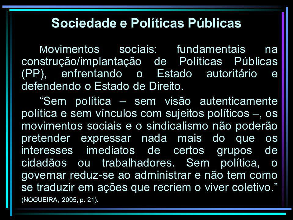 Sociedade e Políticas Públicas