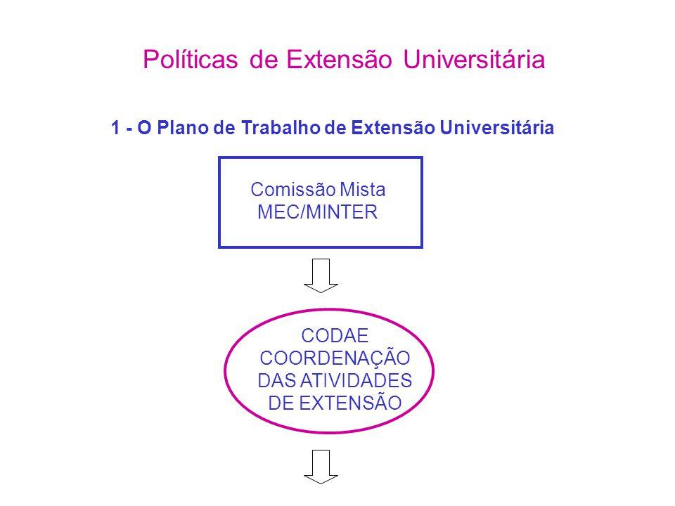 1 - O Plano de Trabalho de Extensão Universitária