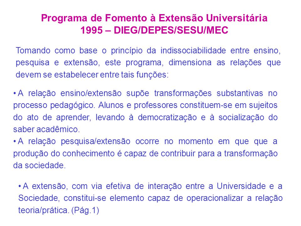 Programa de Fomento à Extensão Universitária