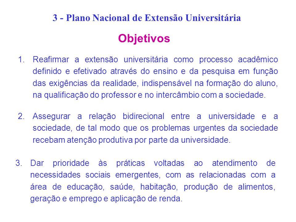3 - Plano Nacional de Extensão Universitária