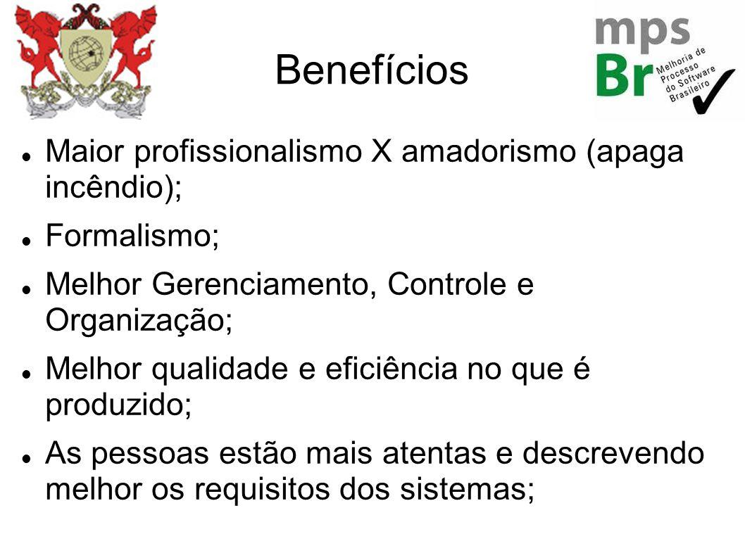 Benefícios Maior profissionalismo X amadorismo (apaga incêndio);