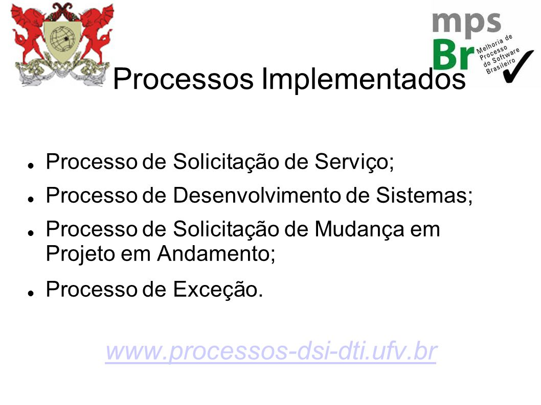 Processos Implementados