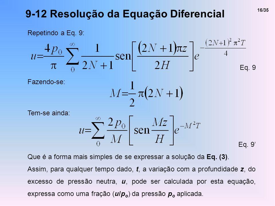 9-12 Resolução da Equação Diferencial