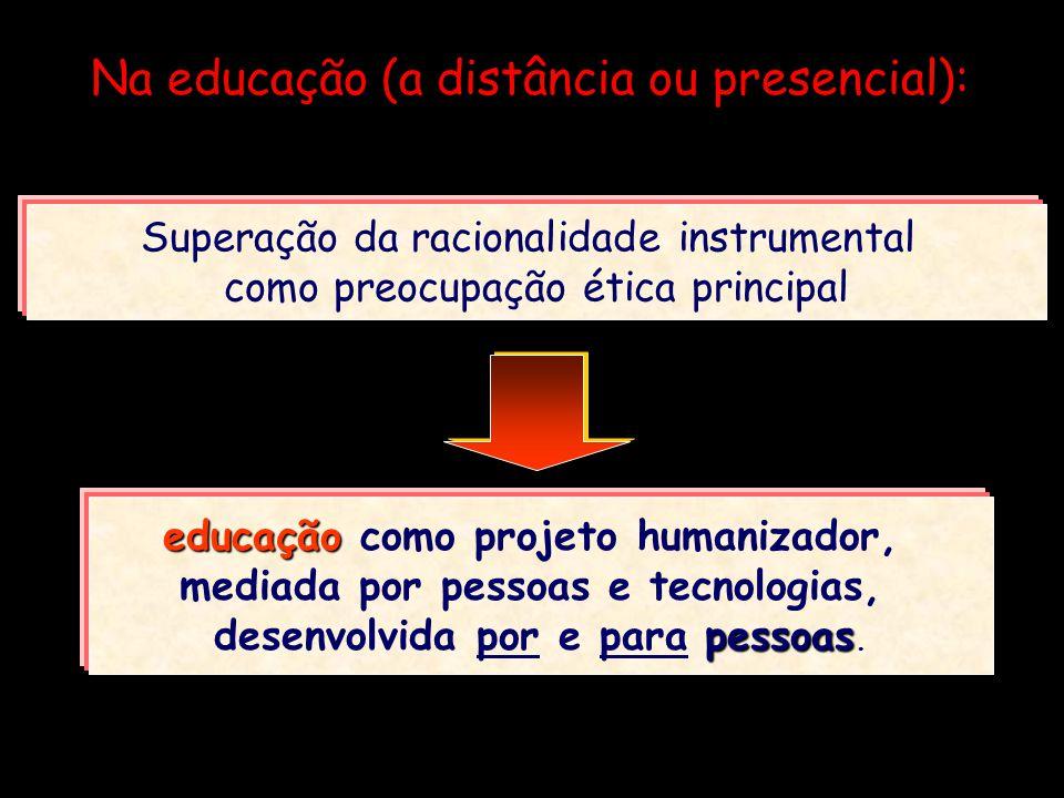 Na educação (a distância ou presencial):