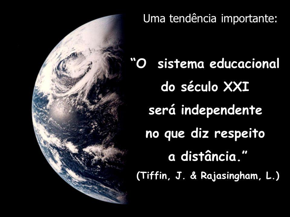O sistema educacional (Tiffin, J. & Rajasingham, L.)