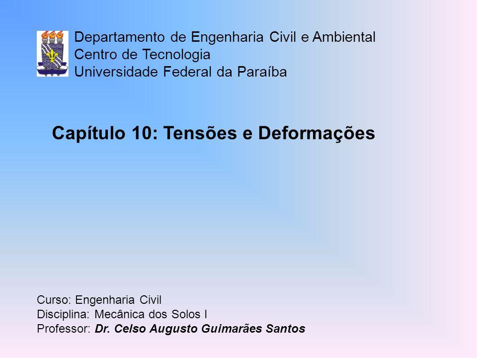 Capítulo 10: Tensões e Deformações