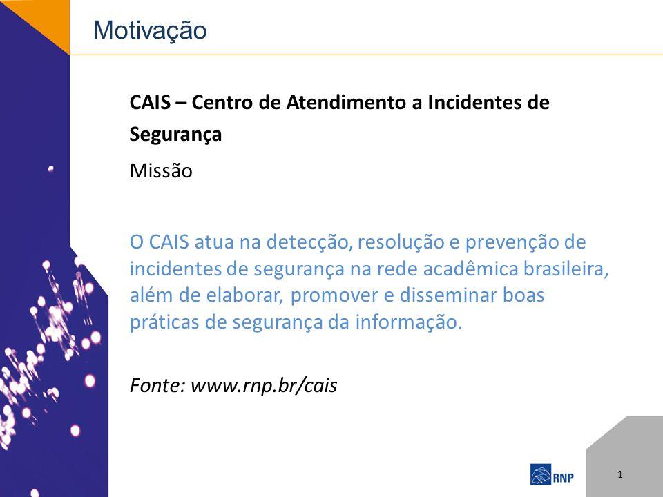 Motivação CAIS – Centro de Atendimento a Incidentes de Segurança