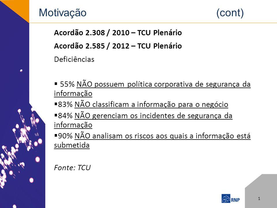 Motivação (cont) Acordão 2.308 / 2010 – TCU Plenário