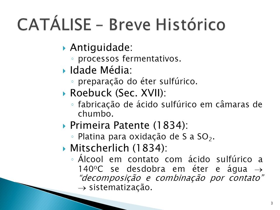 CATÁLISE – Breve Histórico