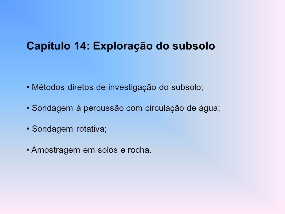 Capítulo 14: Exploração do subsolo