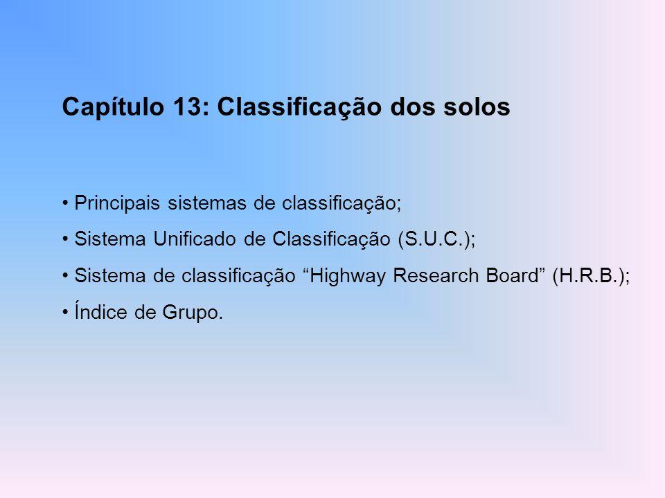 Capítulo 13: Classificação dos solos