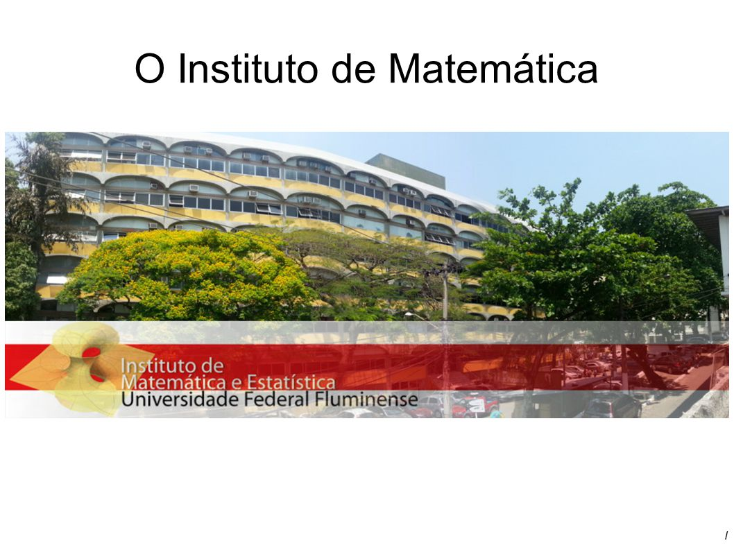 O Instituto de Matemática