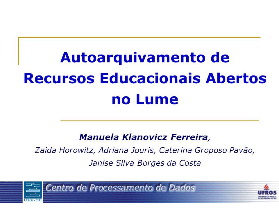 Autoarquivamento de Recursos Educacionais Abertos no Lume