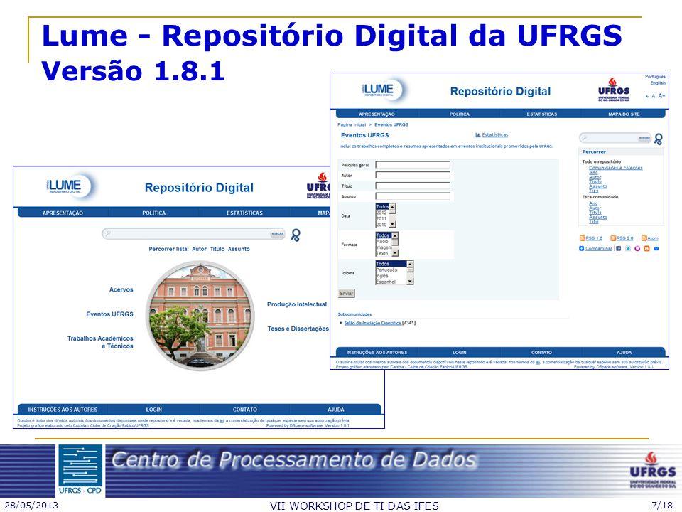 Lume - Repositório Digital da UFRGS Versão 1.8.1