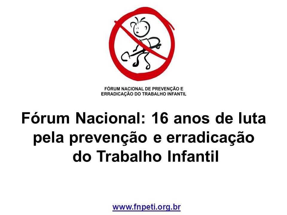Fórum Nacional: 16 anos de luta pela prevenção e erradicação do Trabalho Infantil