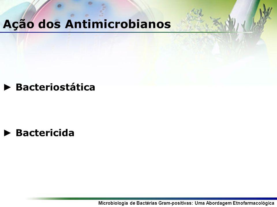 Ação dos Antimicrobianos