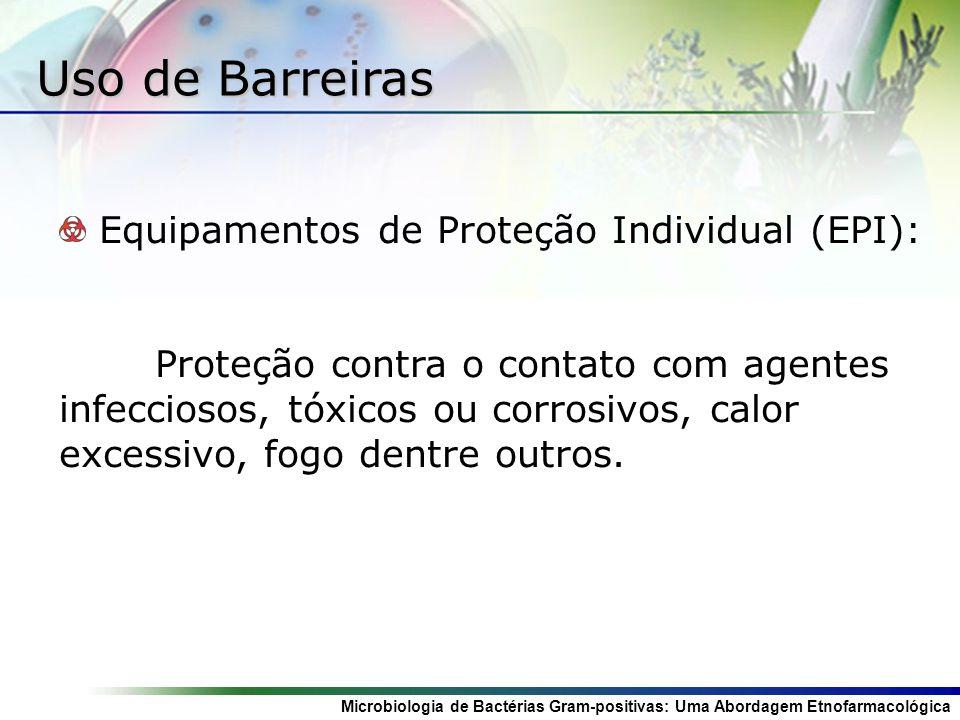 Uso de Barreiras Equipamentos de Proteção Individual (EPI):