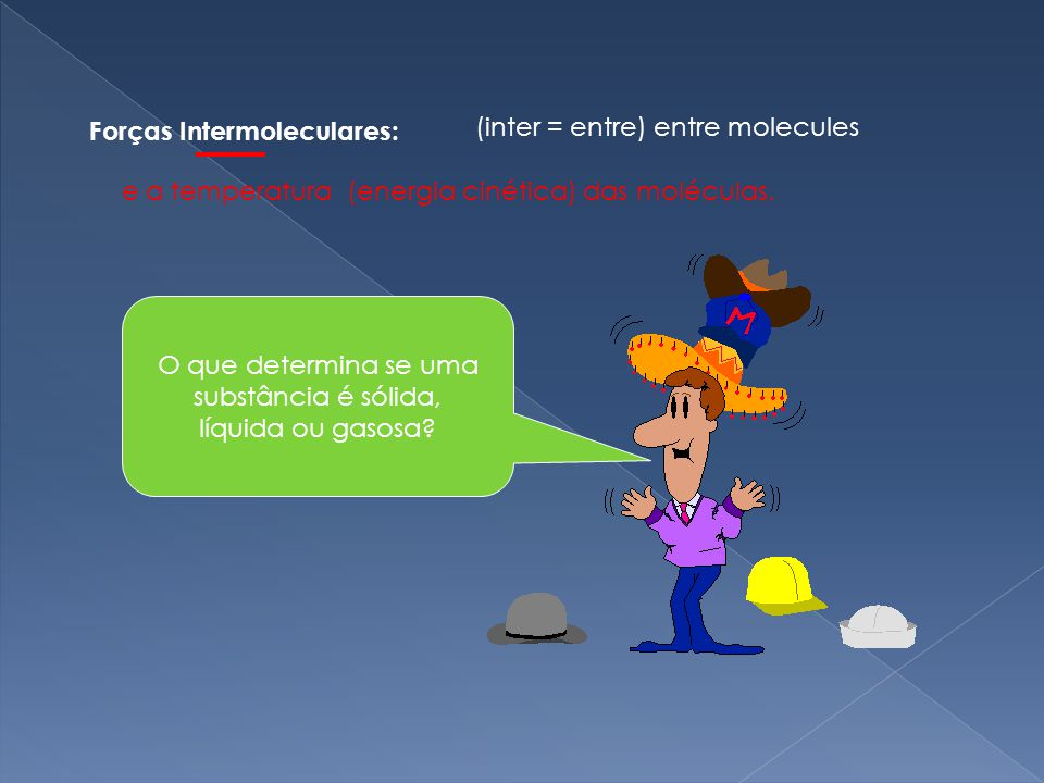Forças Intermoleculares: