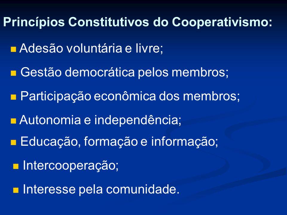 Princípios Constitutivos do Cooperativismo: