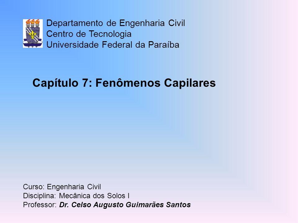 Capítulo 7: Fenômenos Capilares