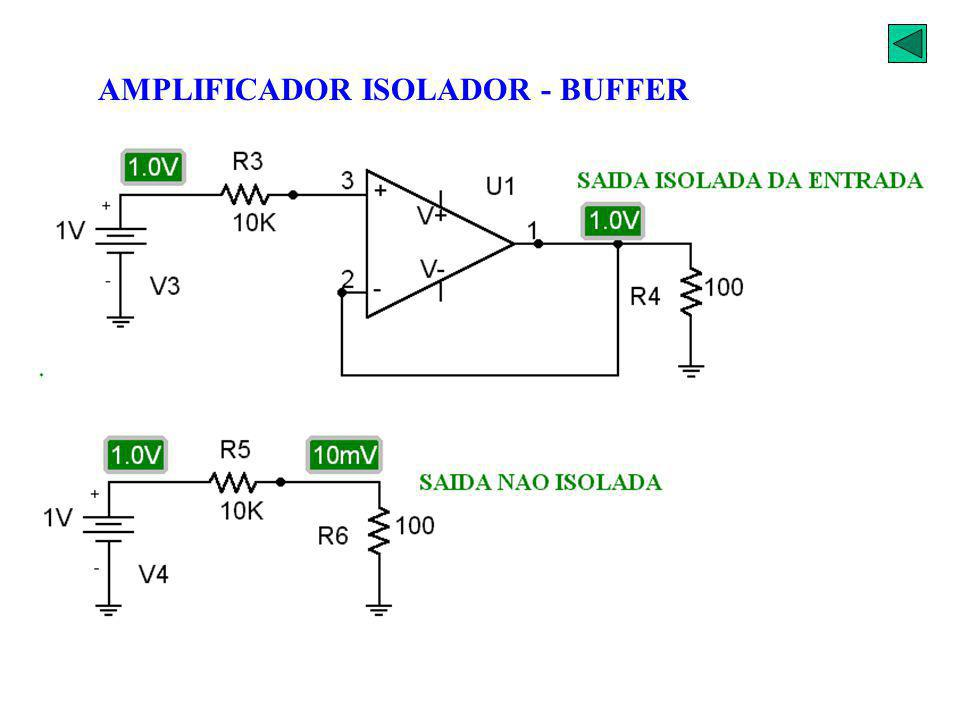 AMPLIFICADOR ISOLADOR - BUFFER