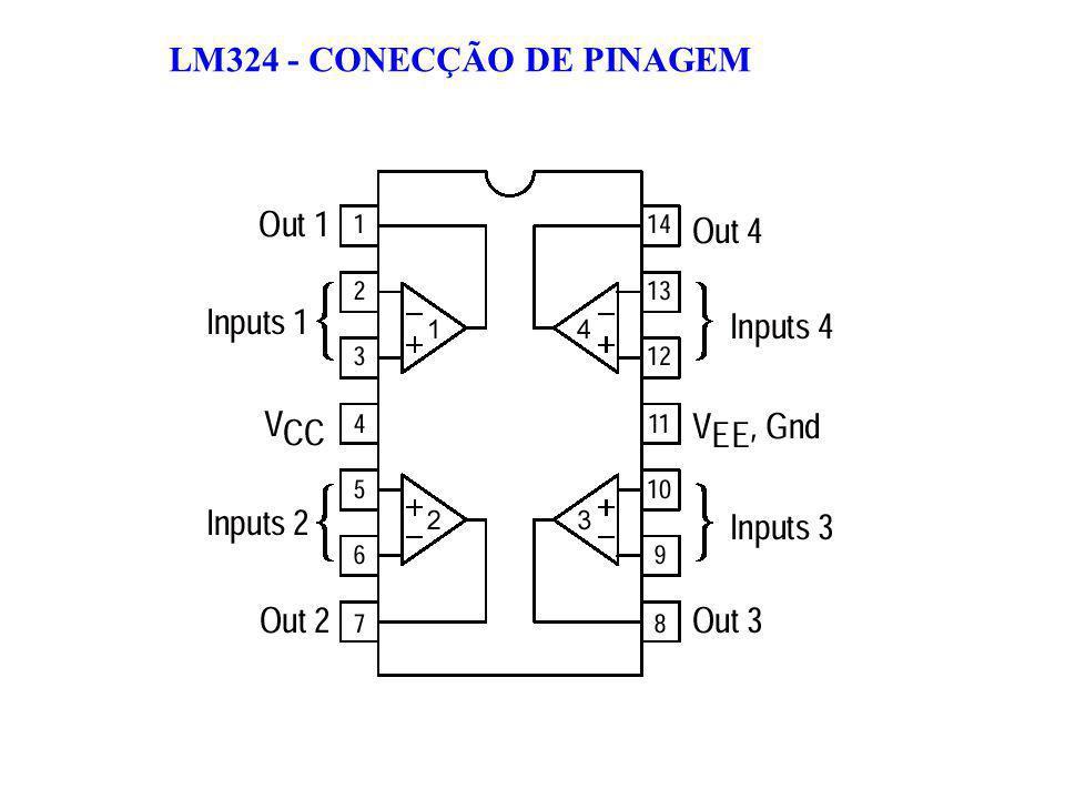 LM324 - CONECÇÃO DE PINAGEM