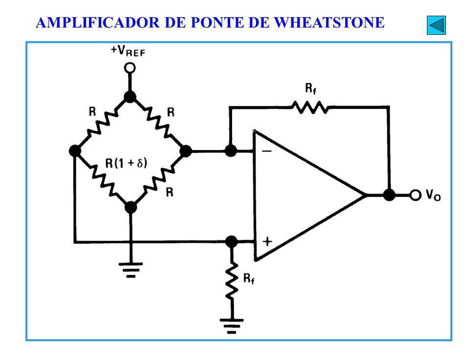 AMPLIFICADOR DE PONTE DE WHEATSTONE