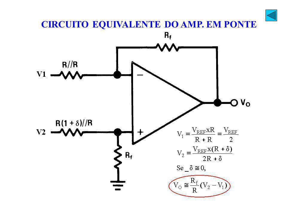 CIRCUITO EQUIVALENTE DO AMP. EM PONTE