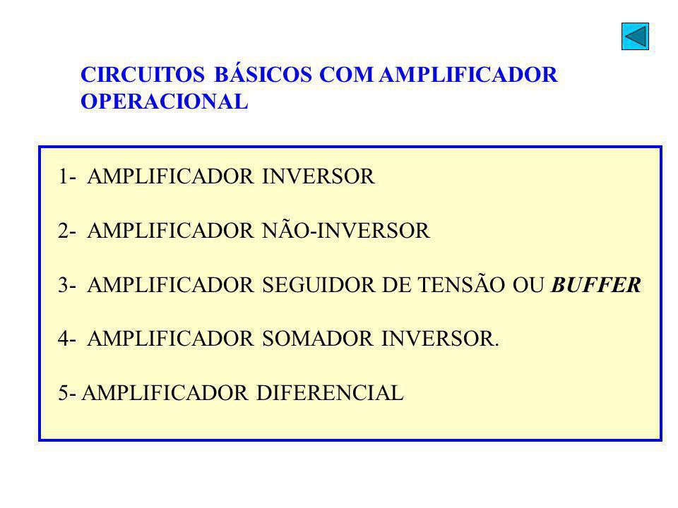 CIRCUITOS BÁSICOS COM AMPLIFICADOR