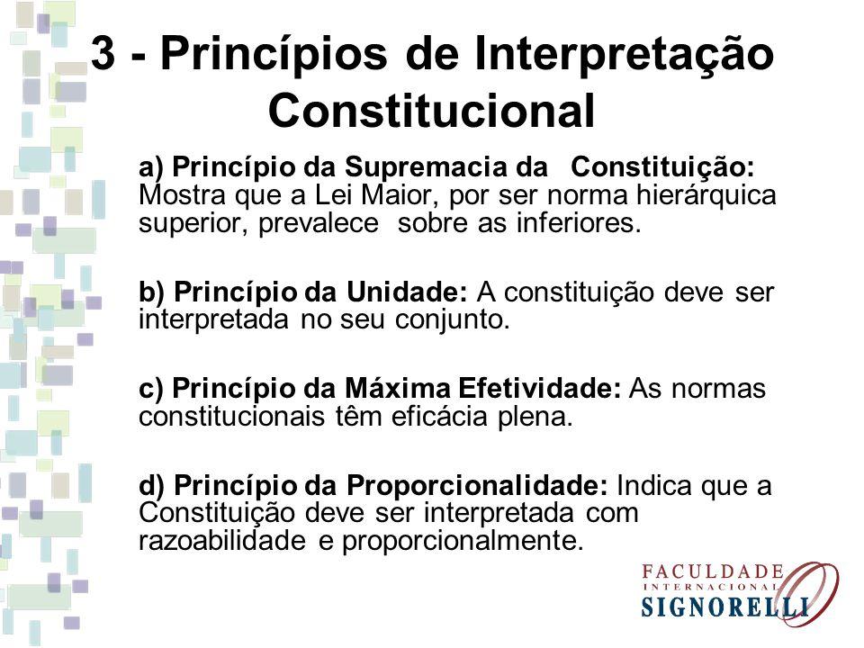 3 - Princípios de Interpretação Constitucional