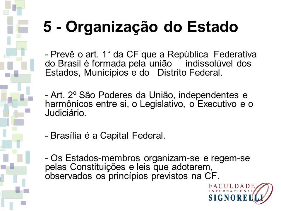 5 - Organização do Estado