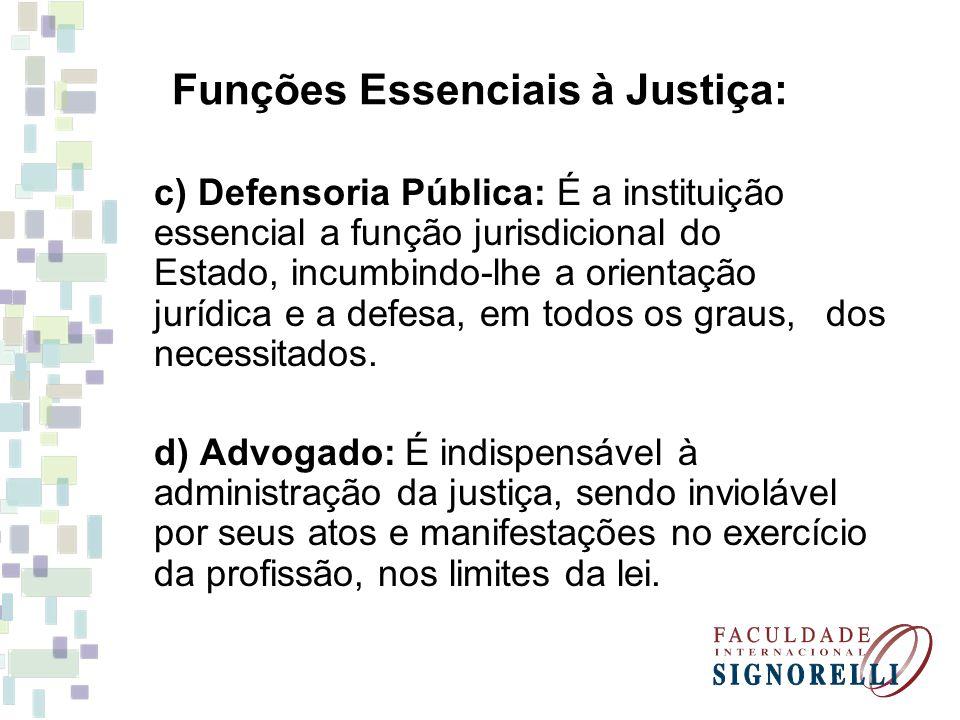 Funções Essenciais à Justiça: