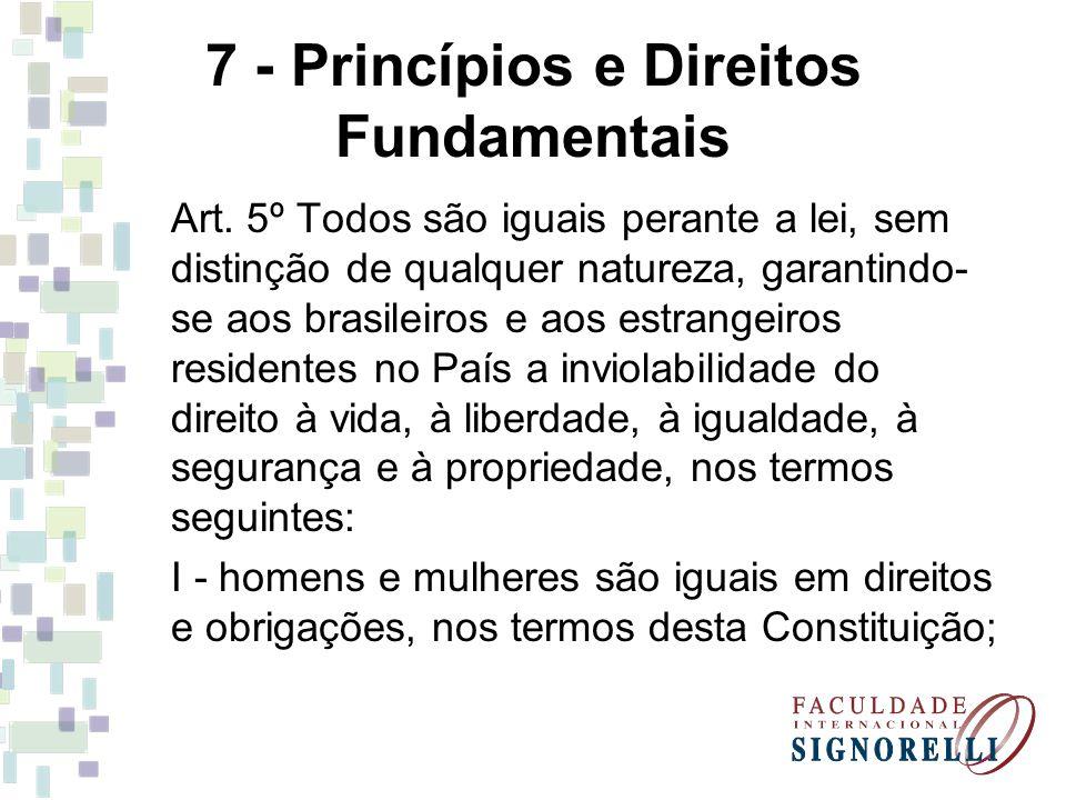7 - Princípios e Direitos Fundamentais