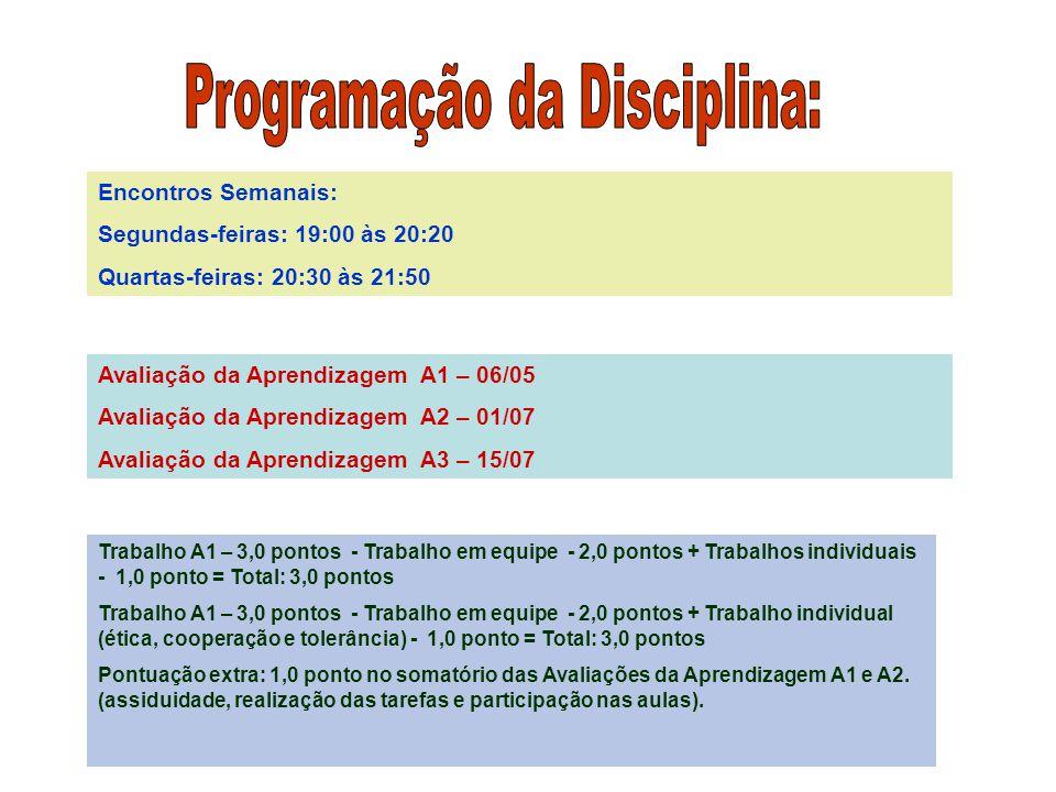 Programação da Disciplina: