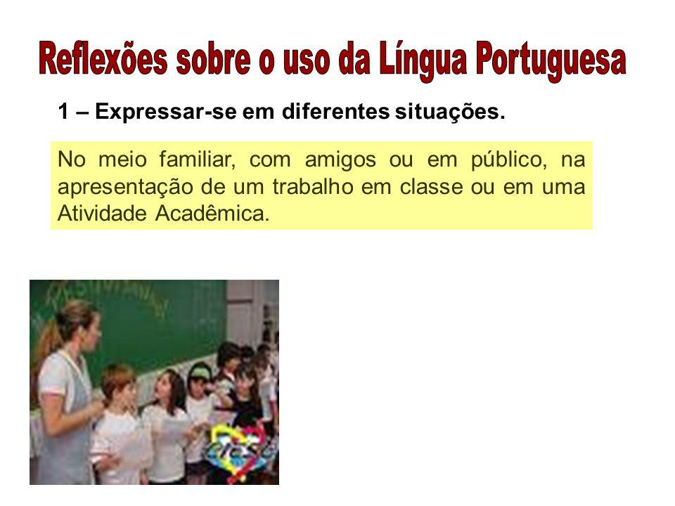 Reflexões sobre o uso da Língua Portuguesa