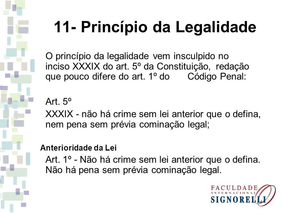 11- Princípio da Legalidade