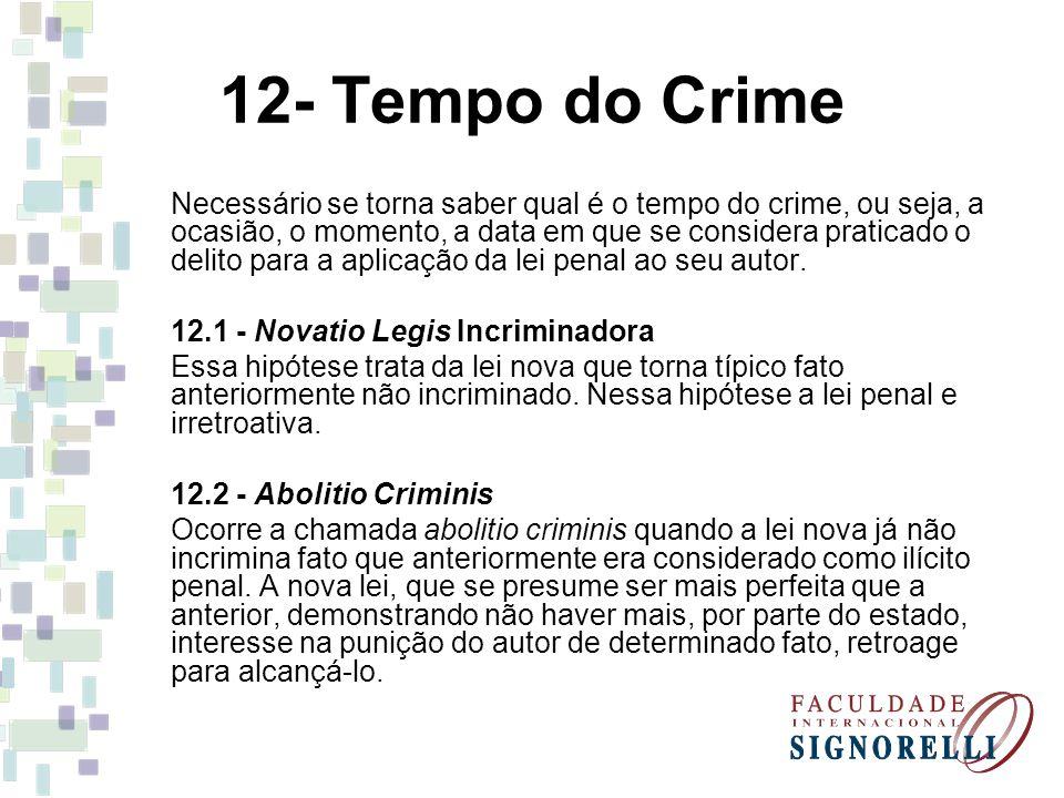 12- Tempo do Crime