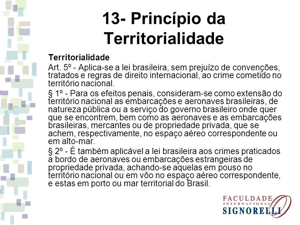 13- Princípio da Territorialidade