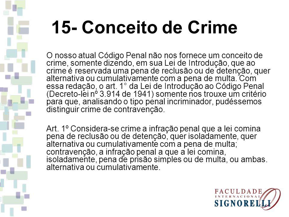 15- Conceito de Crime