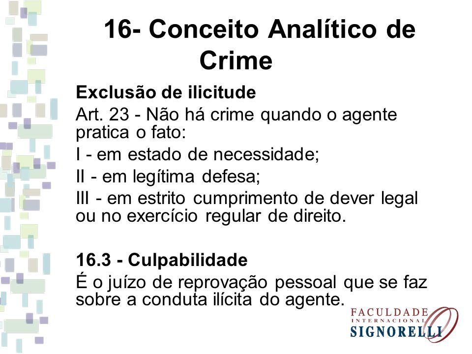 16- Conceito Analítico de Crime