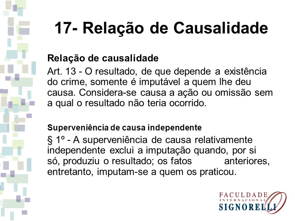 17- Relação de Causalidade