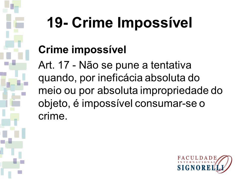 19- Crime Impossível Crime impossível