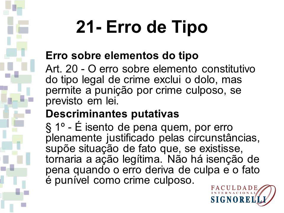 21- Erro de Tipo Erro sobre elementos do tipo
